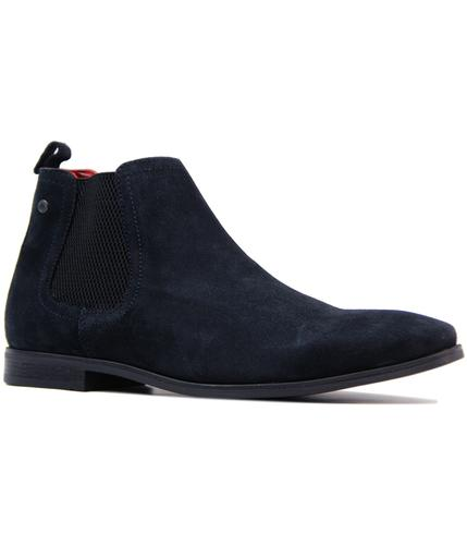 base london william retro mod suede chelsea boots