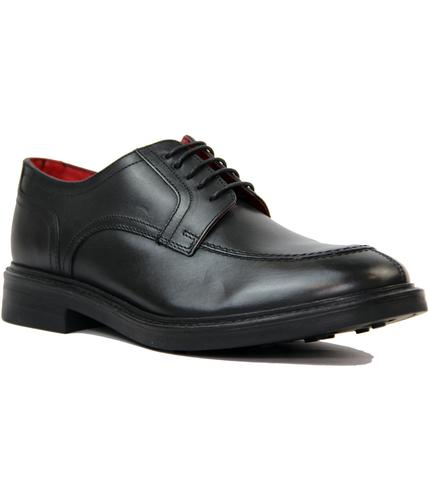 Brooksby BASE LONDON Retro Mod Leather Shoes BLACK