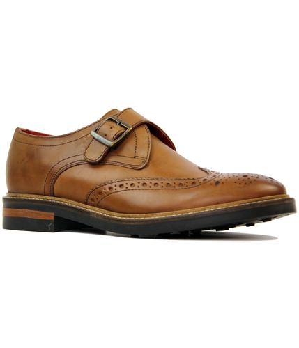 Farleigh BASE LONDON Retro Mod Monk Strap Brogues