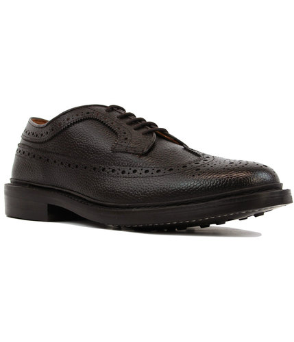 bass weejuns mod monogram long wing grain brogues