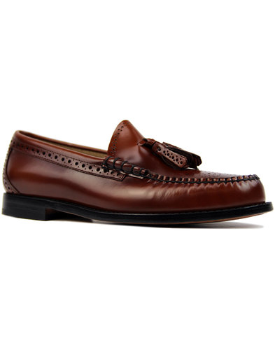 Larkin Brogue BASS WEEJUNS Mod Tassel Loafers (MB)