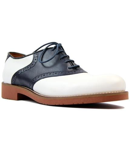 bass weejuns albany retro mod saddle shoes navy