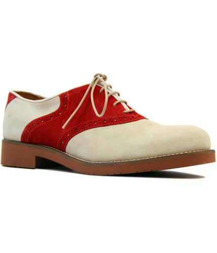 Albany BASS WEEJUNS Retro 1960s Suede Saddle Shoes