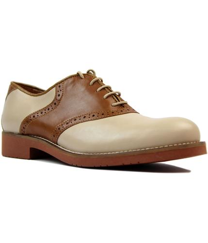 bass weejuns albany retro 60s mod saddle shoes tan