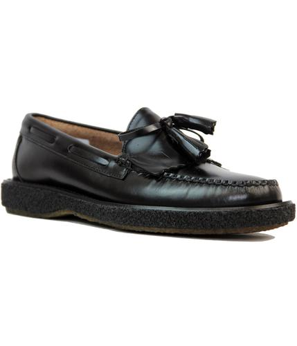 BASS WEEJUNS RETRO MOD TASSLE LOAFERS CREPE SOLE