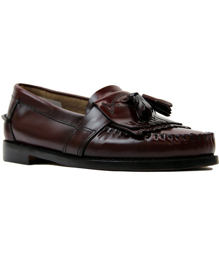 bass weejuns estelle retro mod tassel loafers wine