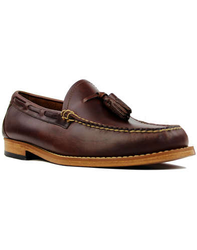 Larkin Pull Up BASS WEEJUNS Mod Tassel Loafers DB