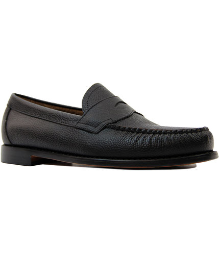bass weejuns-logan-grain-retro-mod-loafers-black