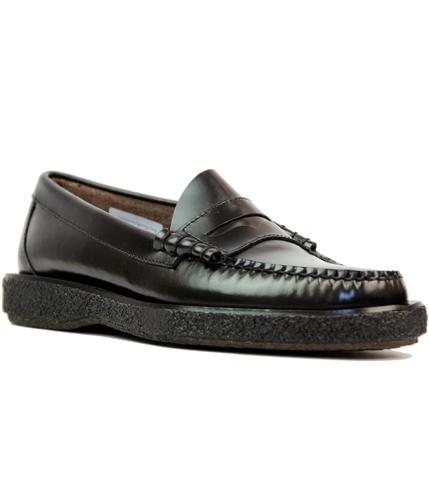 BASS WEEJUNS LARSON MOD CREPE SOLE LOAFERS BLACK
