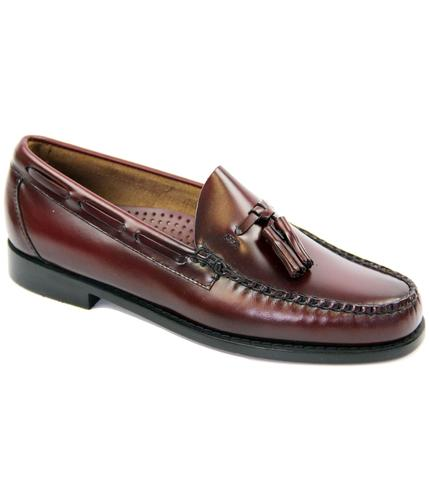 BASS WEEJUNS LARKIN MOD TASSLE LOAFERS WINE