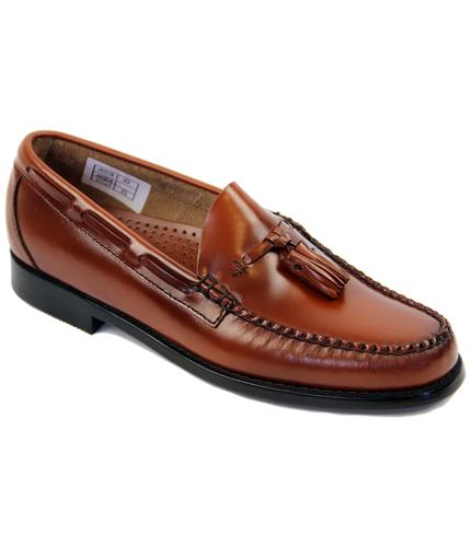 BASS WEEJUNS LARKIN MOD TASSLE LOAFERS TAN