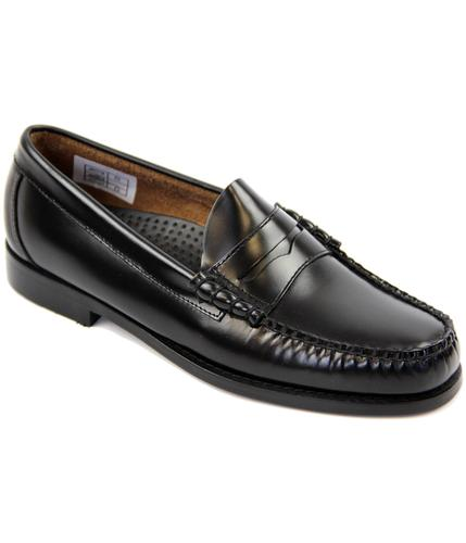 BASS WEEJUNS LARSON MOD PENNY LOAFERS BLACK