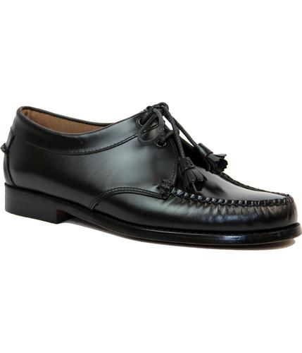 BASS WEEJUNS RETRO MOD TASSEL LACE LOAFERS BLACK