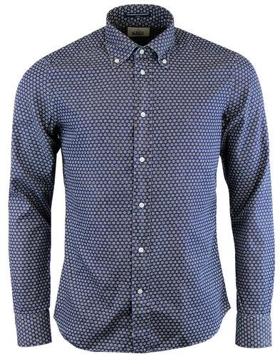 bd baggies dexter retro mod floral dot shirt navy
