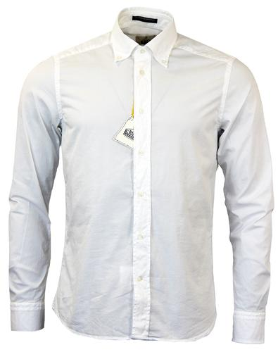 BD BAGGIES RETRO MOD BUTTON DOWN WHITE POPLIN
