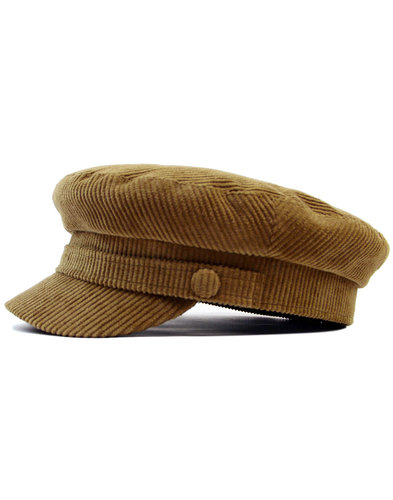 madcap england retro cord lennon beatle hat fawn