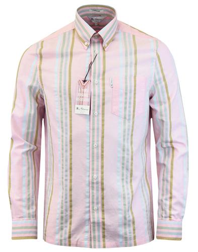 ben sherman retro mod archive candy stripe shirt