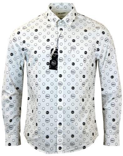 ben sherman the beatles retro mod drum print shirt