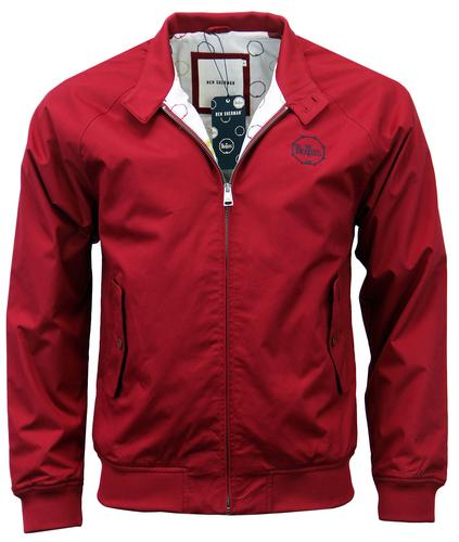 BEN SHERMAN BEATLES HARRINGTON JACKET RED