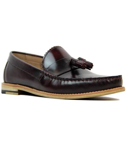 ben sherman boey retro mod bugundy tassle loafers
