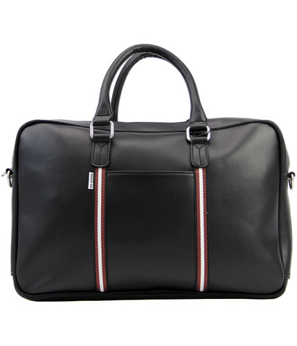 ben sherman retro mod commuter holdall bag black