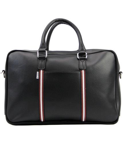 ben sherman retro mod commuter holdall bag black