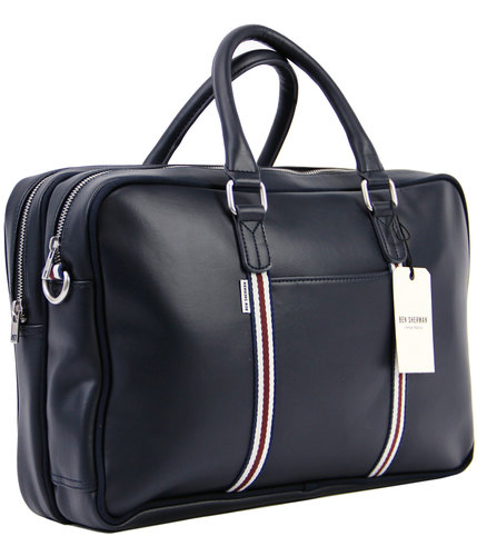 ben sherman retro mod commuter holdall bag navy
