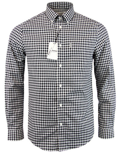 ben sherman retro 60s mod dogtooth gingham shirt
