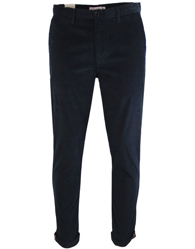 ben sherman retro 1960s mod cord trousers navy