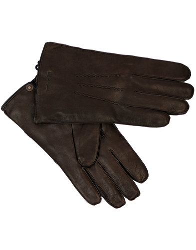 ben sherman retro mod chocolate leather gloves