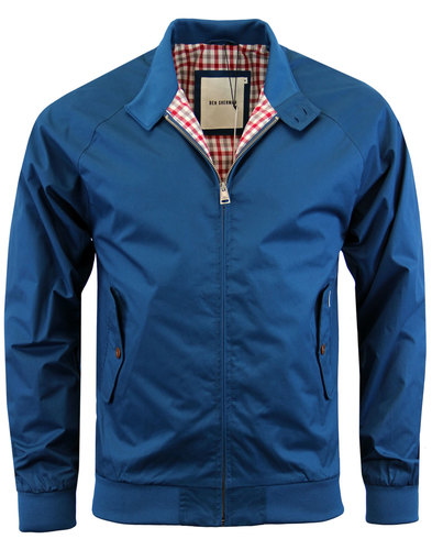 ben sherman retro mod harrington jacket canal blue