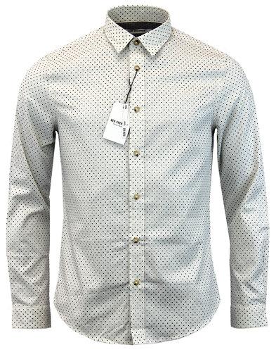 ben sherman retro 1960s mod herringbone spot shirt
