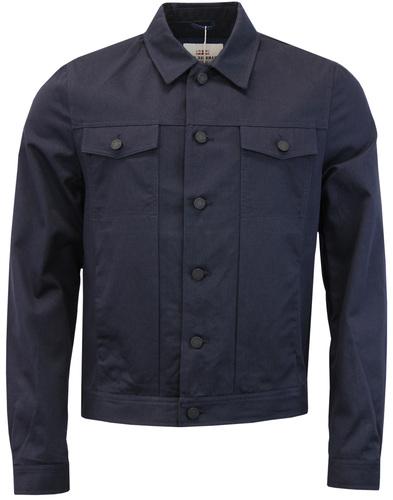ben sherman trucker jacket navy mod
