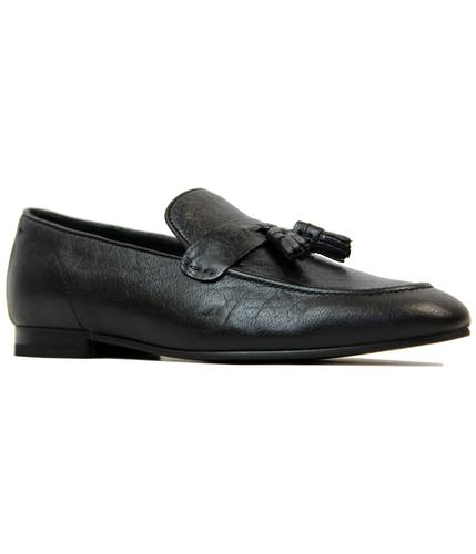 ben sherman meos retro mod tassel loafers black
