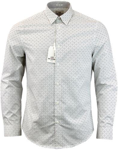 ben sherman optic check shirt white