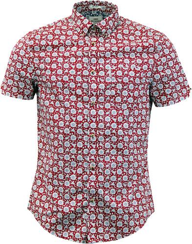 BEN SHERMAN 1960s Mod Floral Paisley S/S Shirt