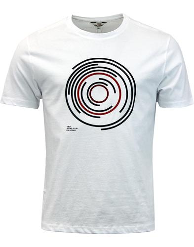 ben sherman records target tee white