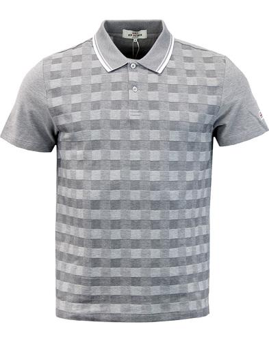 BEN SHERMAN Mod Checkerboard Tipped Pique Polo