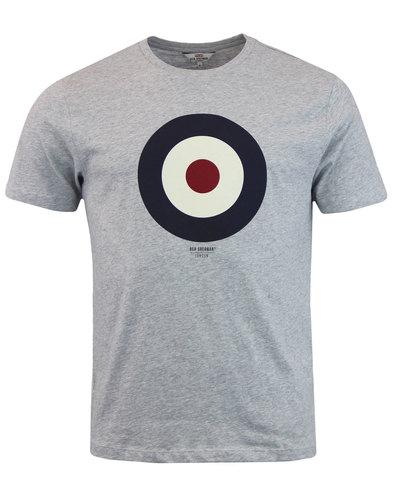 ben sherman keith moon retro mod target tee grey