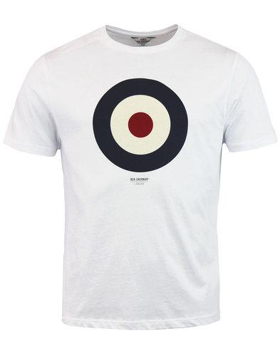 ben sherman keith moon retro mod target tee white