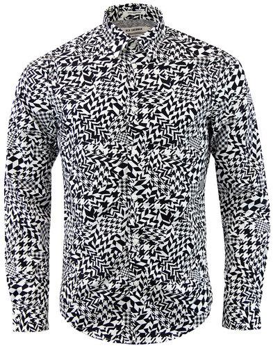 ben sherman optical dogtooth retro 1960s mod shirt