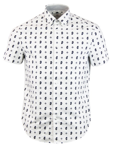 BEN SHERMAN Retro 1960s Mod Paisley Mosaic Shirt
