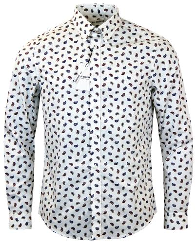 ben sherman retro 60s mod scattered paisley shirt
