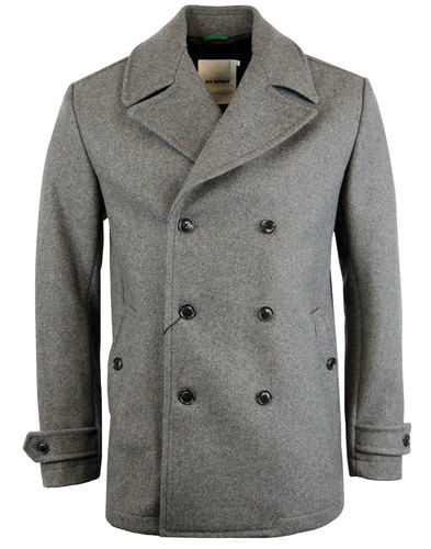 BEN SHERMAN Mod Melton Double Breasted Pea Coat
