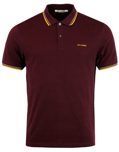 ben sherman romford block retro mod polo top port