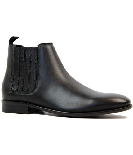 ben sherman rame retro 60s mod chelsea boots black