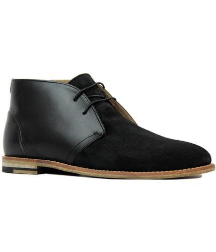 ben sherman stom retro 60s mod desert boots black