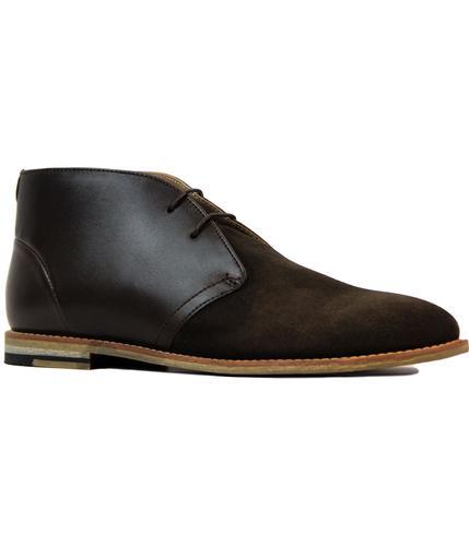 ben sherman stom retro 60s mod desert boots brown