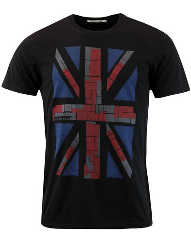 ben sherman retro mod union jack colour block tee