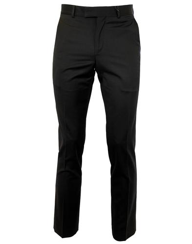 BEN SHERMAN RETRO MOD BLACK SUIT TROUSERS